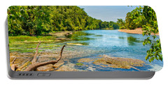 Portable Battery Charger featuring the photograph Alley Springs Scenic Bend by John M Bailey