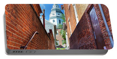Alley View Of Maryland State House  Portable Battery Charger