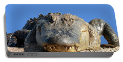 Portable Battery Charger featuring the photograph Alligator Approach .png by Al Powell Photography USA