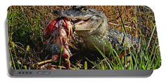 Alligator Eating A Fish Portable Battery Charger