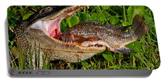 Alligator Eating Fish Portable Battery Charger