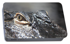 Alligator Eye Portable Battery Charger by Carol Groenen