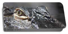 Alligator Eye Portable Battery Charger by Carol Groenen