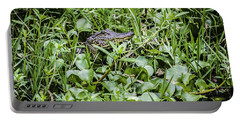 Alligator In Duck Weed, Louisiana Portable Battery Charger
