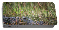 Alligator In Grass 0609 Portable Battery Charger