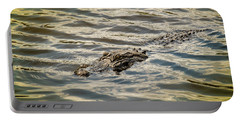 Alligator In Lake Alice Portable Battery Charger