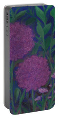 Allium And Geranium Portable Battery Charger