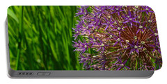 Allium Explosion Portable Battery Charger by Tim Good