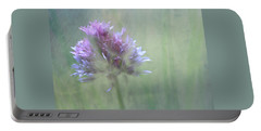 Allium Impressionism Portable Battery Charger by Catherine Alfidi