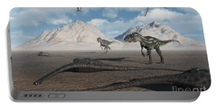 Allosaurus Dinosaurs Approach A Group Portable Battery Charger