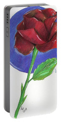 Almost Black Rose Portable Battery Charger