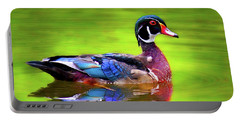 Portable Battery Charger featuring the photograph Almost Perfect Wood Duck by Jean Noren