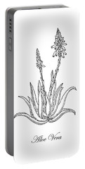 Aloe Vera Botanical Drawing  Portable Battery Charger