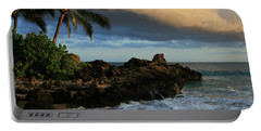 Aloha Naau Sunset Paako Beach Honuaula Makena Maui Hawaii Portable Battery Charger