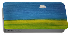 Portable Battery Charger featuring the painting Alone And Fine by Judith Rhue