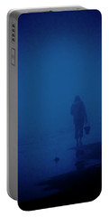 Alone By The Sea Portable Battery Charger by Mary Lee Dereske