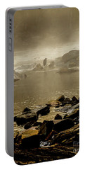 Portable Battery Charger featuring the photograph Alone In The Mist by Iris Greenwell