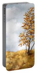 Portable Battery Charger featuring the painting Alone by Inese Poga
