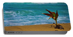 Alone On The Beach Portable Battery Charger