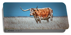 Portable Battery Charger featuring the photograph Alone On The Trail by Linda Unger