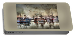 Portable Battery Charger featuring the photograph Along The Bay Front by Thom Zehrfeld