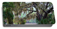 Portable Battery Charger featuring the photograph Along The Path by Kathryn Meyer