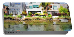 Portable Battery Charger featuring the photograph Along The Venice Canals by Chuck Staley