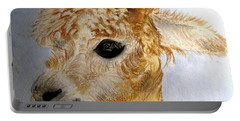Alpaca Cutie Portable Battery Charger by Carol Grimes