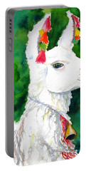 Alpaca With Attitude Portable Battery Charger by Carlin Blahnik