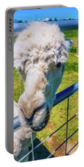 Portable Battery Charger featuring the photograph Alpaca Yeah by Jonny D