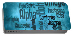 Portable Battery Charger featuring the digital art Alpha by Angelina Vick
