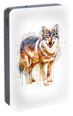 Alpha Wolf Portable Battery Charger by Marian Voicu