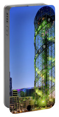Portable Battery Charger featuring the photograph Alphabetic Tower by Fabrizio Troiani