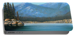 Alpine Lake Portable Battery Charger by Frank Wilson