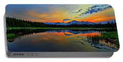 Portable Battery Charger featuring the photograph Alpine Lake Glow by Scott Mahon