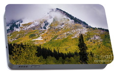 Portable Battery Charger featuring the photograph Alpine Loop Autumn Storm - Wasatch Mountains  by Gary Whitton