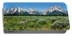 Alpine Meadow Teton Panorama II Portable Battery Charger by Greg Norrell