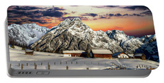 Alpine Winter Scene Portable Battery Charger