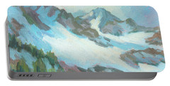 Portable Battery Charger featuring the painting Alps In Switzerland by Diane McClary