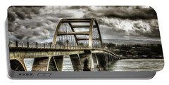 Alsea Bay Bridge Portable Battery Charger by Thom Zehrfeld