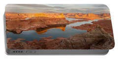 Portable Battery Charger featuring the photograph Alstrom Point Panorama by Dustin LeFevre
