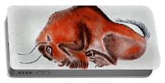 Altamira Prehistoric Bison At Rest Portable Battery Charger