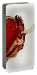 Altamira Prehistoric Bison Detail Portable Battery Charger