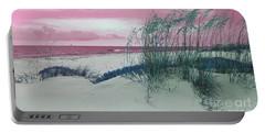 Alternate Beachscape  Portable Battery Charger by Rachel Hannah