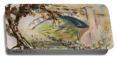 Portable Battery Charger featuring the painting Alum Rock Park California Landscape 5 by Xueling Zou