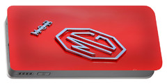 Portable Battery Charger featuring the photograph Aluminum Font by Stephen Mitchell