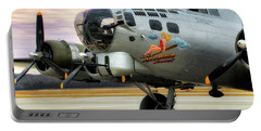 Portable Battery Charger featuring the photograph Aluminum Overcast - B-17 - World War II by Jason Politte
