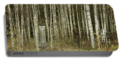 Portable Battery Charger featuring the photograph Alvarado Cemetery 42 by Marie Leslie