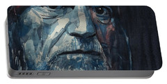 Portable Battery Charger featuring the painting Always On My Mind - Willie Nelson  by Paul Lovering