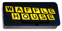 Always Open Waffle House Classic Signage Art  Portable Battery Charger
